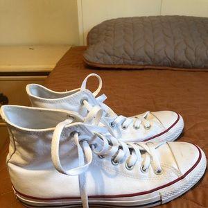 Converse Shoes - White high top converse